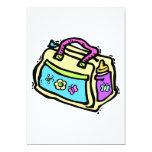 bolso del bebé invitación 12,7 x 17,8 cm