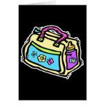 bolso del bebé tarjeta