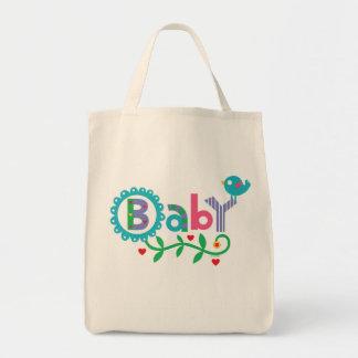 Bolso del bebé y del pájaro bolsa lienzo