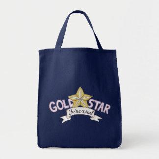 Bolso del Bisexual de la estrella del oro Bolsa Tela Para La Compra