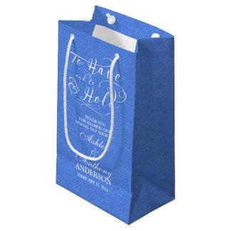 Bolso del boda para tener y para sostener cordón bolsa de regalo pequeña