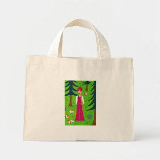Bolso del bosque de la seta bolsa tela pequeña