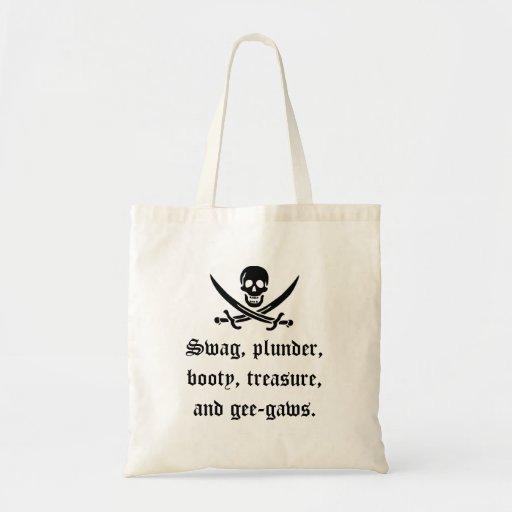 ¡Bolso del botín de un pirata! Bolsas