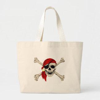 Bolso del botín del pirata bolsa tela grande