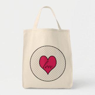 Bolso del botón del amor bolsa