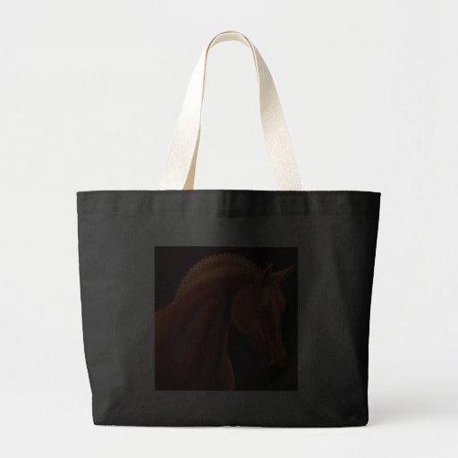 Bolso del caballo de la demostración de la castaña bolsa lienzo