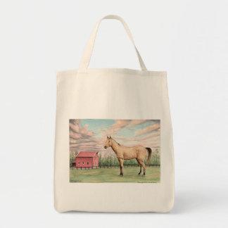 Bolso del caballo y de ultramarinos del granero bolsa tela para la compra