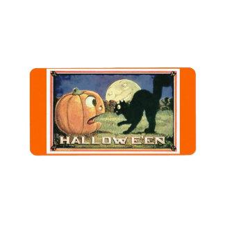 Bolso del caramelo/comida Halloween Etiqueta De Dirección