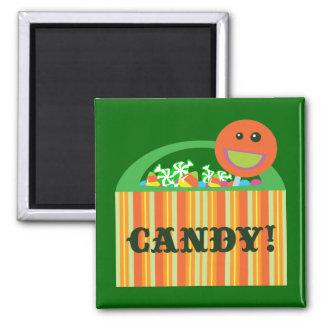 Bolso del caramelo de Halloween Imán De Nevera