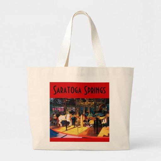 Bolso del carrusel de Saratoga Bolsa Tela Grande