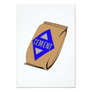 """Bolso del cemento invitación 3.5"""" x 5"""""""