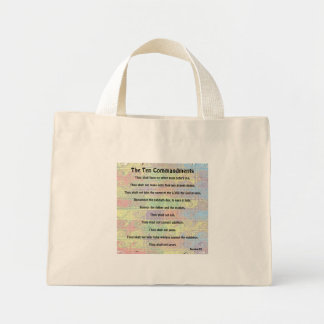 Bolso del chapoteo del color de diez mandamientos bolsa de tela pequeña
