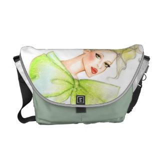Bolso del chica de la moda bolsa de mensajeria