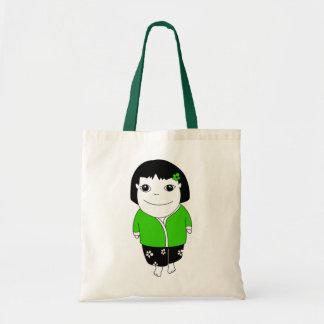Bolso del chica de los sarong - verde bolsas de mano