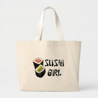 Bolso del chica del sushi bolsa tela grande