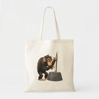Bolso del chimpancé del Washtub-Bajo-Playin' Bolsa Tela Barata