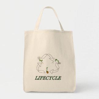 Bolso del ciclo vital bolsa tela para la compra