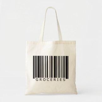 Bolso del código de barras de los ultramarinos bolsa tela barata