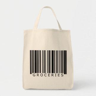 Bolso del código de barras de los ultramarinos bolsa tela para la compra