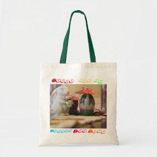 Bolso del conejito de pascua bolsa tela barata