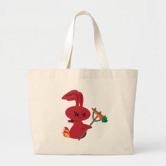 Bolso del conejito del diablo bolsa lienzo