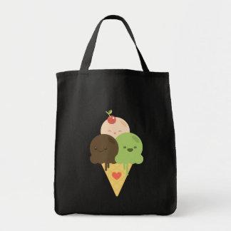 Bolso del cono de helado de Kawaii Bolsa Tela Para La Compra