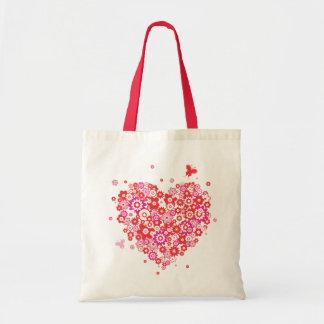Bolso del corazón 1 de la flor bolsa tela barata