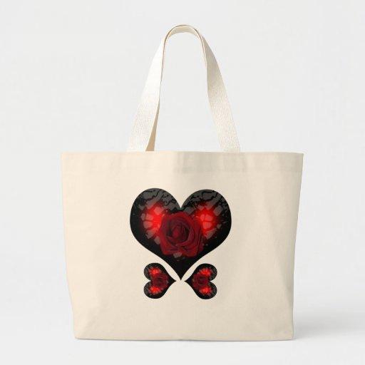 Bolso del corazón del amor bolsa de mano