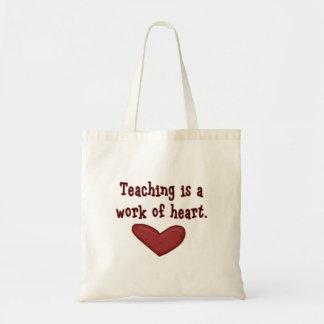 Bolso del corazón del aprecio del profesor bolsa de mano