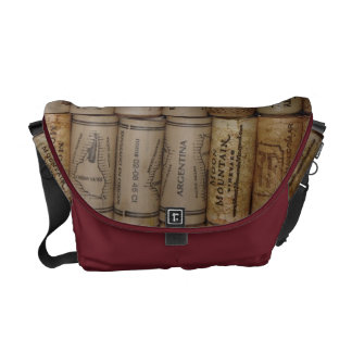 Bolso del corcho de los amantes del vino bolsa de mensajería