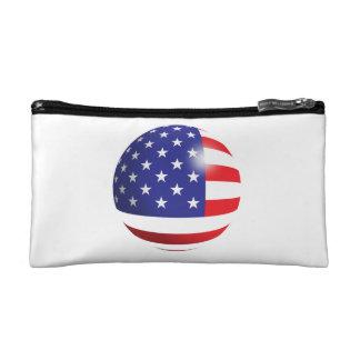 Bolso del cosmético de la bandera americana