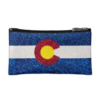 Bolso del cosmético de la bandera de Colorado del