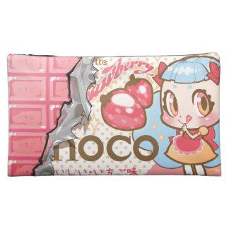 bolso del cosmético de la fresa-choco del bessette
