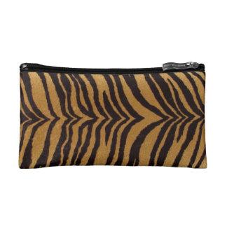 Bolso del cosmético de la impresión del tigre