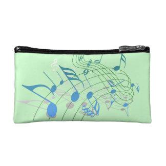 Bolso del cosmético de la nota de la música