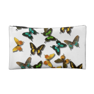 Bolso del cosmético de las mariposas
