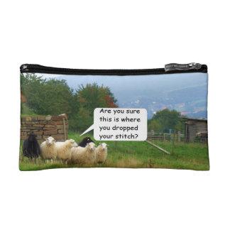 Bolso del cosmético de las ovejas de la puntada de