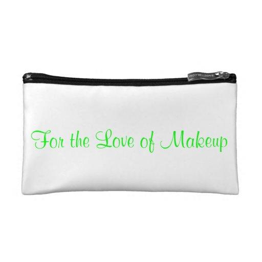 Bolso del cosmético de los amantes del maquillaje