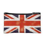 Bolso del cosmético de Union Jack del vintage