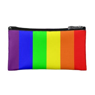 Bolso del cosmético del arco iris del orgullo gay