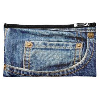 Bolso del cosmético del bolsillo de los tejanos de
