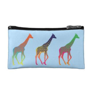 Bolso del cosmético del chapoteo de la jirafa