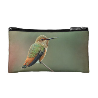 Bolso del cosmético del colibrí