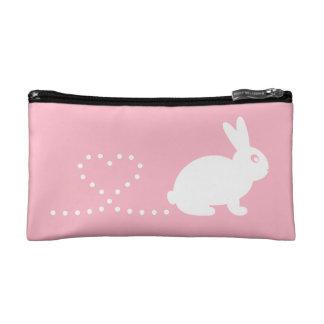 Bolso del cosmético del conejo del corazón de Poop