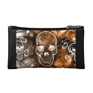 Bolso del cosmético del cráneo del Grunge