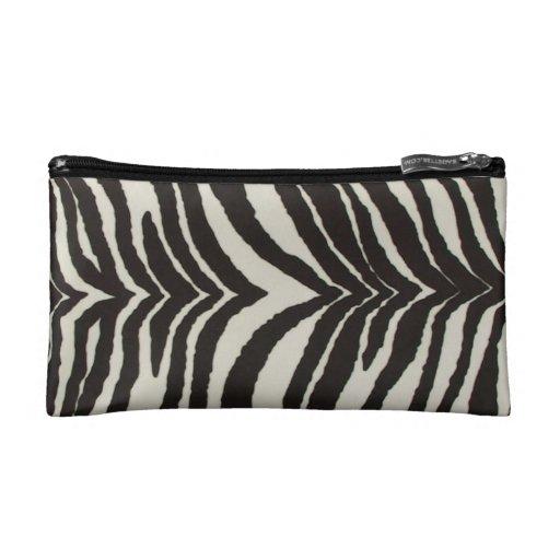 Bolso del cosmético del estampado de zebra