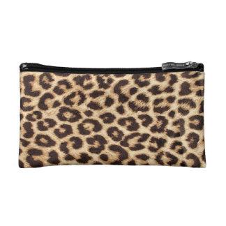 Bolso del cosmético del estampado leopardo
