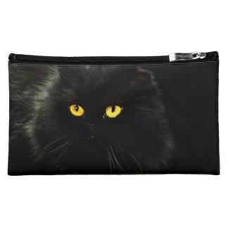 Bolso del cosmético del gato negro