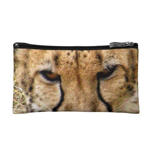 Bolso del cosmético del guepardo