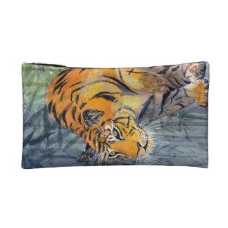 Bolso del cosmético del tigre de Tsuyako